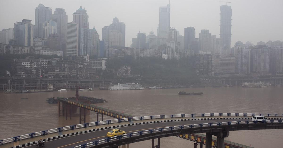 A river view of Chao Tian Men, Chongqing.</p>