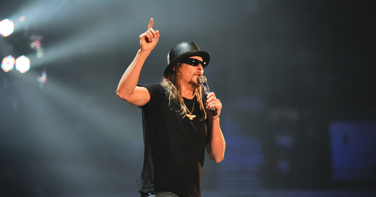 Kid Rock performs during the 10th anniversary of WWE Tribute to the Troops at Norfolk Scope Arena on December 9, 2012 in Norfolk, Virginia.</p>