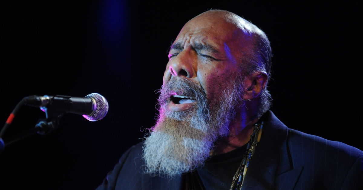 Richie Havens performs at the 'Woodstock 40th Anniversary' Blu-Ray release party at Hard Rock Cafe - Times Square June 4, 2009 in New York City.</p>