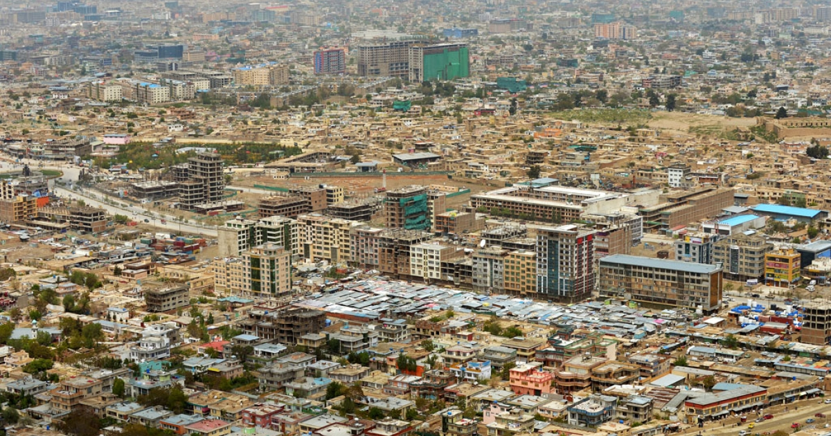 A general view of Kabul city. A civilian cargo aircraft crashed at Bagram Air Field, north of Kabul, on April 29, 2013.</p>