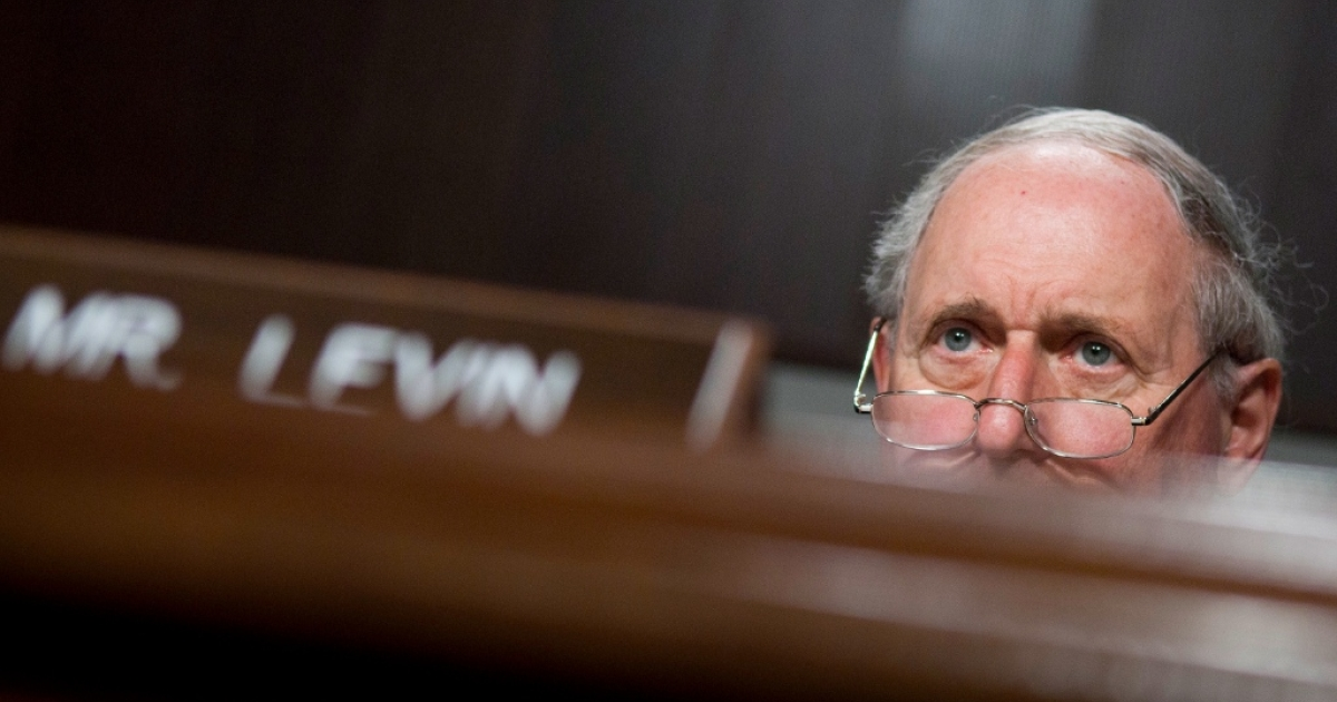 Senator Carl Levin (D-MI) looks on during a hearing on 'Harnessing Small Business Innovation: Navigating the Evalaution Process for Gulf Coast Oil Cleanup Proposals' in front of the U.S. Senate Committee on Small Business and Entrepreneurship at Senate Dirksen Building on June 17, 2010 in Washington, DC. BP have signalled their intention to purchase a number of V20 machines built by Ocean Therapy Solutions, a company in which Costner has invested a reported GBP 13.5 million to assist development, as part of the ongoing oil-spill clean up operation to stem the environmental impact of the BP Deepwater Horizon oil spill in the Gulf of Mexico.</p>