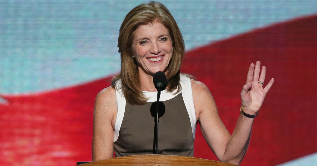 Caroline Kennedy during the final day of the Democratic National Convention at Time Warner Cable Arena on September 6, 2012 in Charlotte, North Carolina.</p>