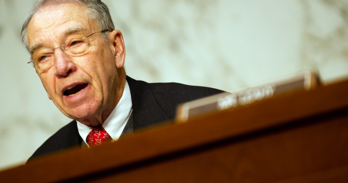 Senator Charles Grassley is the most senior Republican on the Senate Judiciary Committee reviewing the proposed immigration reforms.</p>