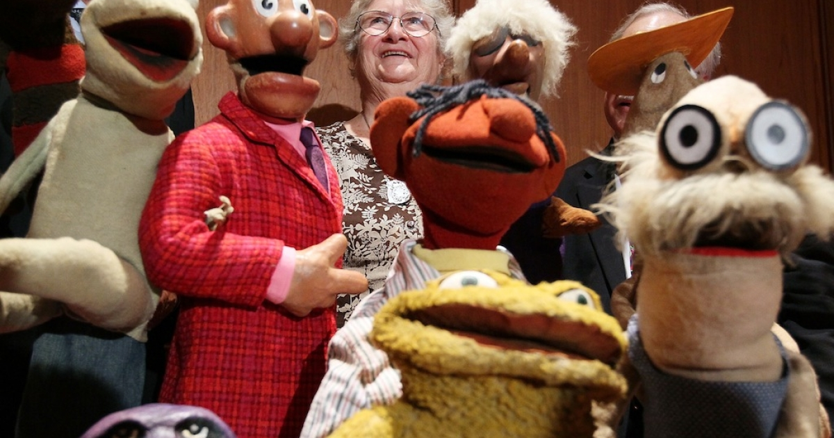 Jane Henson, co-creator of the Muppets, at the Smithsonian's National Museum of American History, on Aug. 25, 2010 in Washington, DC.</p>