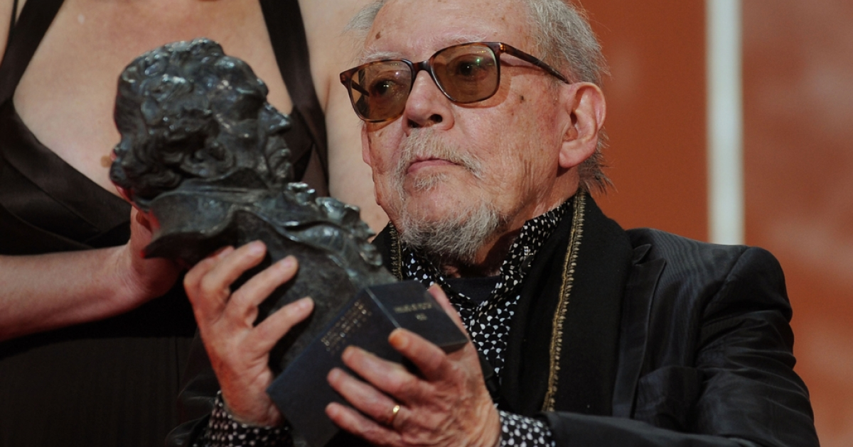Spanish director Jesus Franco is awarded an honorary Goya for his lifetime work in the Spanish film industry at the 2009 Goya Cinema Awards Ceremony in Madrid, Spain.</p>