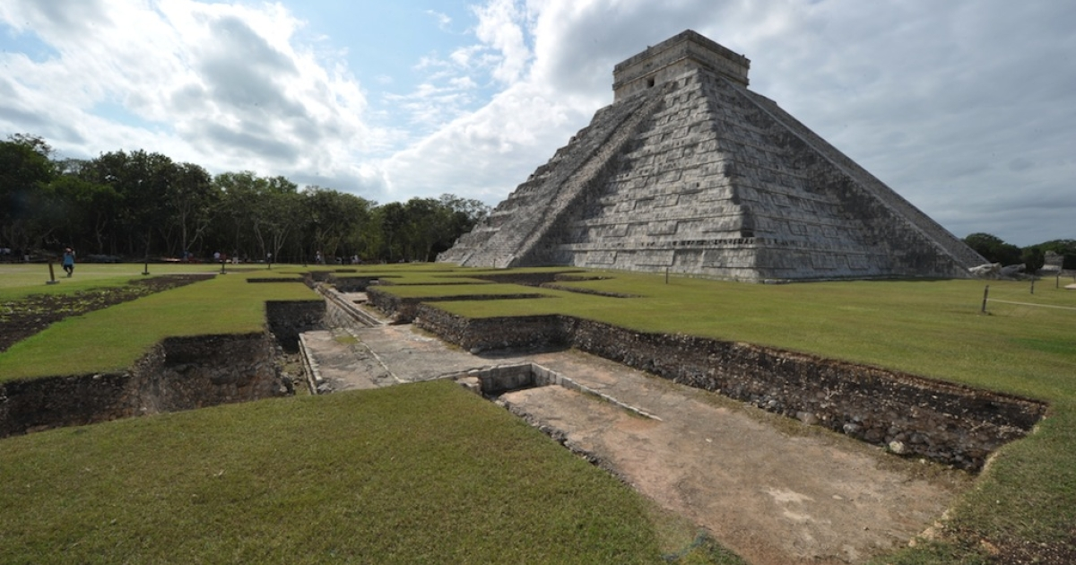 The El Castillo (The Castle), a step pyramid at the Chichen Itza archaeological site that was built by the Mayan civilization in the Mexican state of Yucatan, on Dec. 2, 2010.</p>