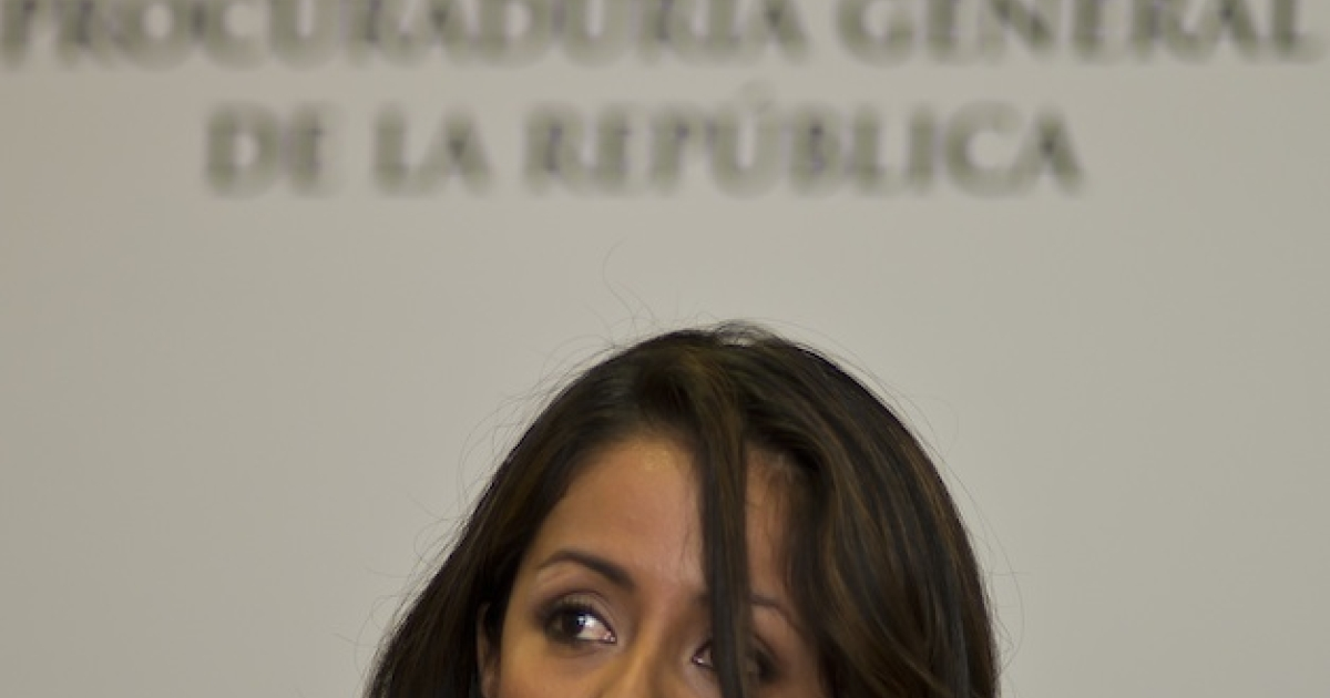 Mexican Assistant Attorney General Mariana Benitez speaks during a news conference to announce the arrest of gunmen who had been plotting to kill two legislators in Mexico City.</p>
