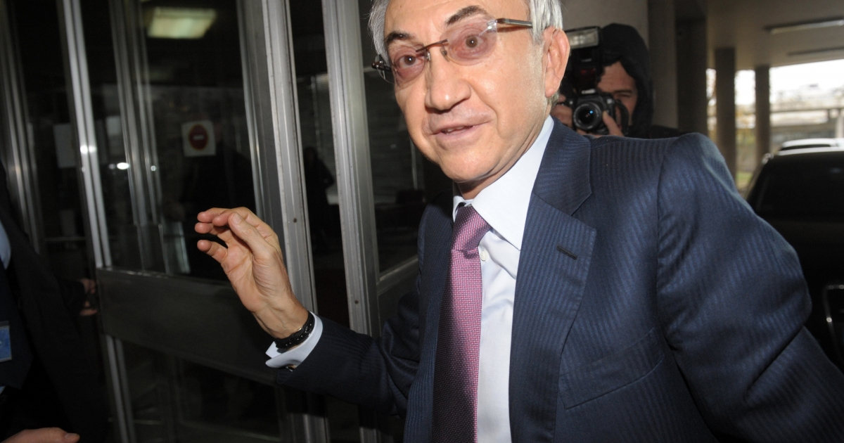 Serbia's tycoon Miroslav Miskovic arrives at the Interior Ministry in Belgrade. One of Serbia's richest men, Miskovic is one victim of the new Serbian government's stated crackdown on corruption.</p>