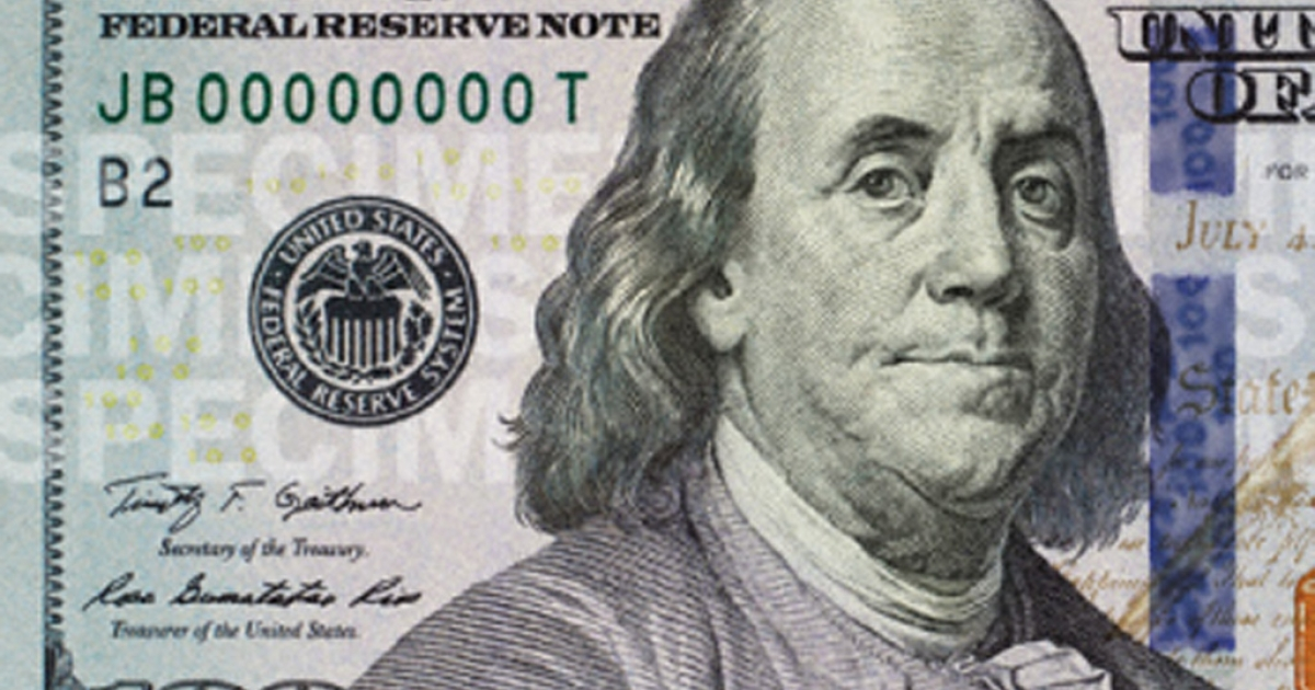 The new $100 bill has additional security features such as a three-dimensional security ribbon.</p>
