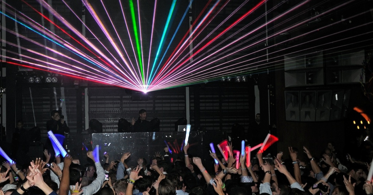 New Year's Eve revellers dance at the Marquee Nightclub at The Cosmopolitan in Las Vegas on January 1, 2012.</p>