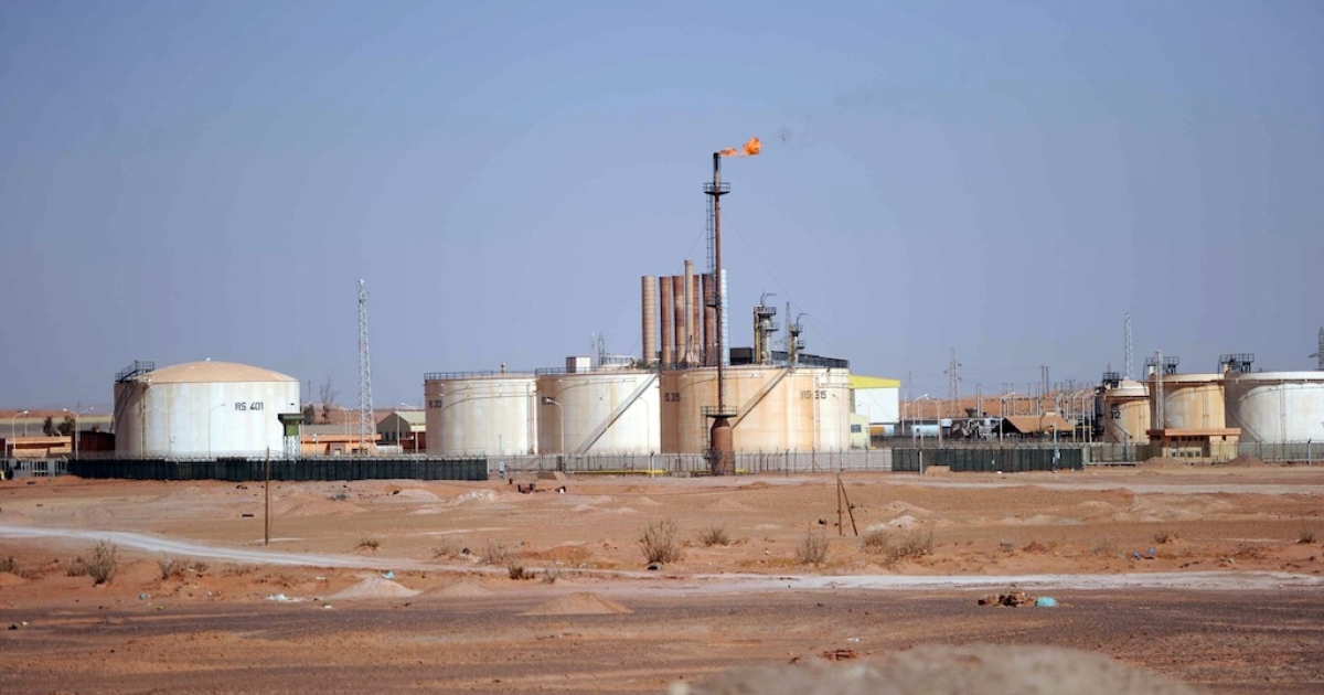 A general view shows an oil installation on the outskirts of In Amenas, Algeria, deep in the Sahara near the Libyan border, on Jan. 18, 2013.</p>