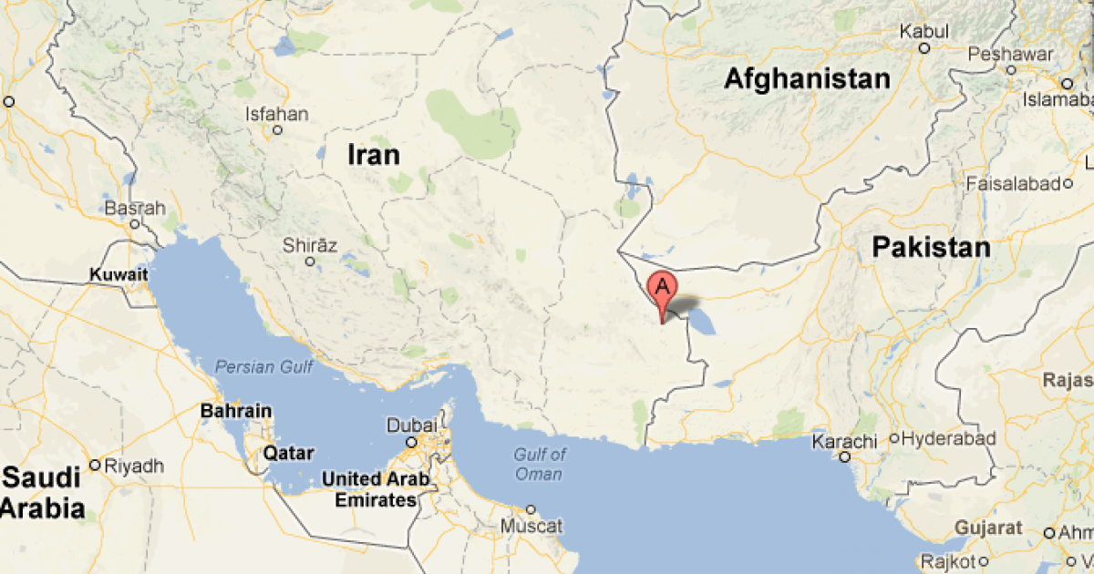 A 7.8-magnitude earthquake rocked Iran on April 16, 2013. This Google Map shows the epicenter in southeast Sistan and Baluchistan province.</p>