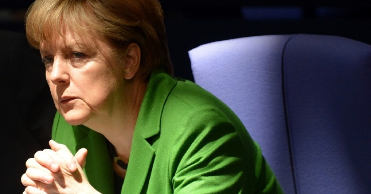 German Chancellor Angela Merkel attends a session at the Bundestag (lower house of parliament) on March 22, 2012 in Berlin.</p>