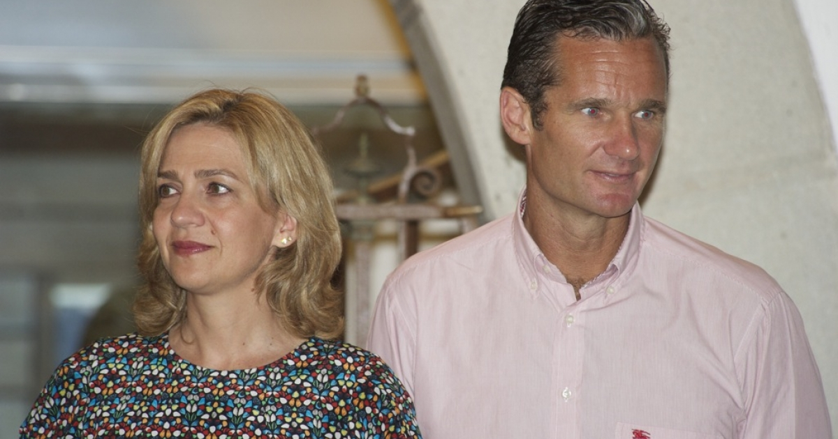 Princess Cristina and her husband, Inaki Urdangarin, in 2011. The princess has been summoned to testify over allegations that her husband embezzled public funds during his chairmanship of a charitable foundation.</p>