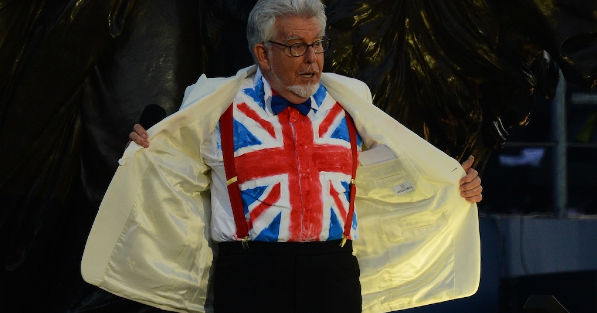 Rolf Harris performs during the Queen's Diamond Jubilee Concert at Buckingham Palace in London on June 4, 2012.</p>