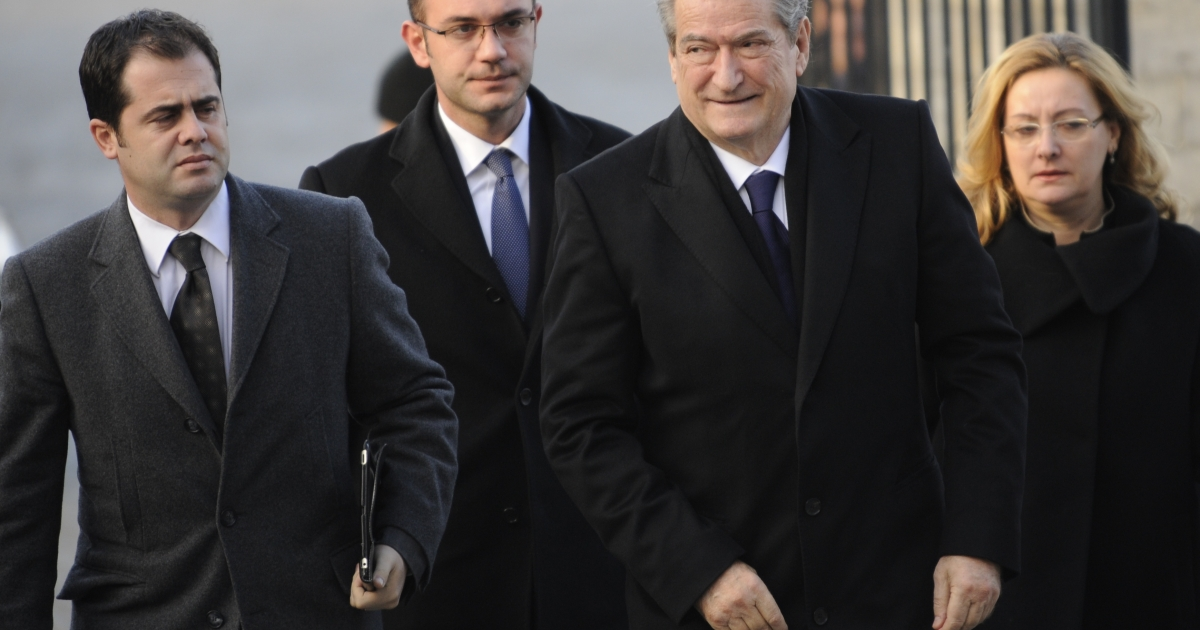 Albanian Prime Minister Sali Berisha on Dec. 13, 2012 in Brussels. Berisha on Wednesday admitted that his party hold lost Sunday's parliamentary election to the opposition Socialist Party.</p>