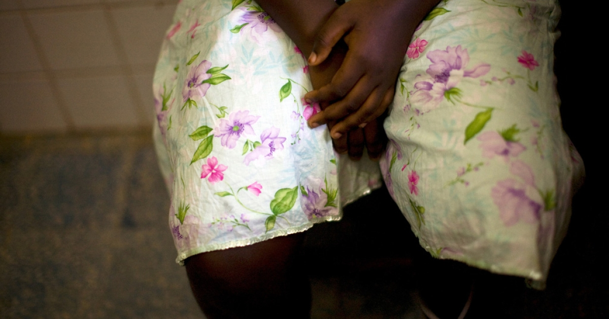 A 15-year-old girl seeks treatment at Doctors Without Boarders (MSF) clinic in Monrovia, Liberia, on November 30, 2009 after being raped.</p>