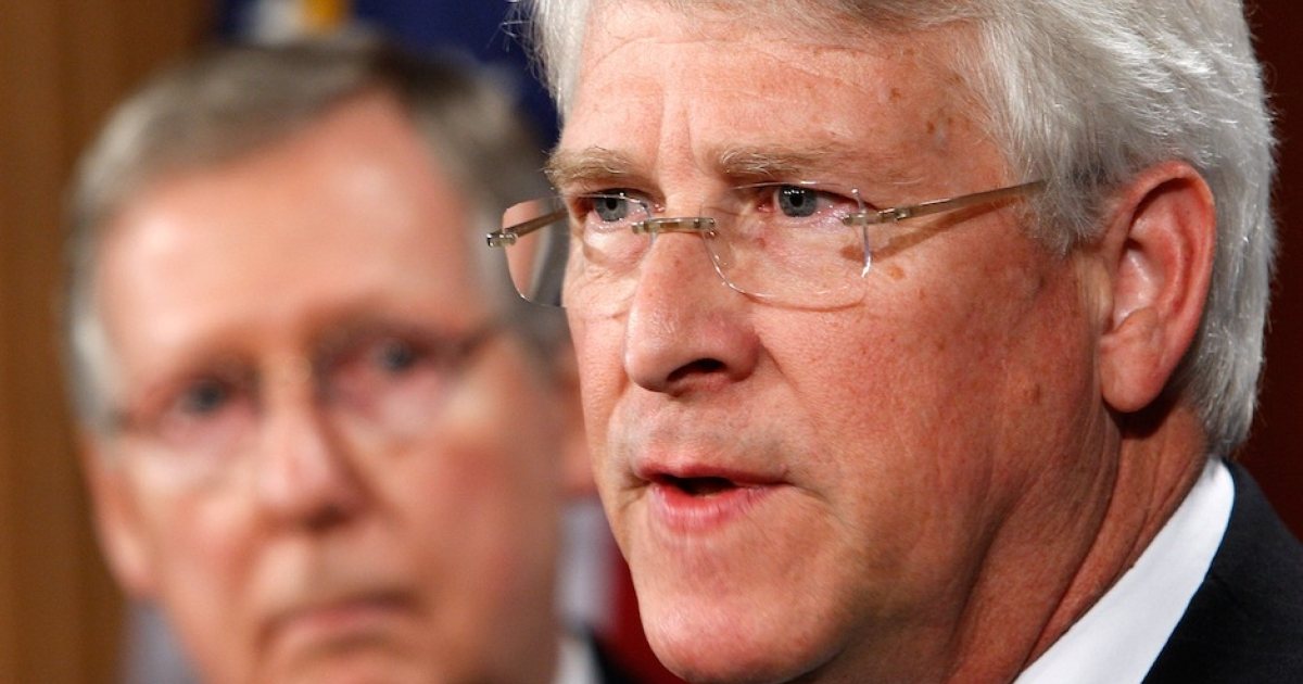 An envelope addressed to Mississippi Sen. Roger Wicker contained a
