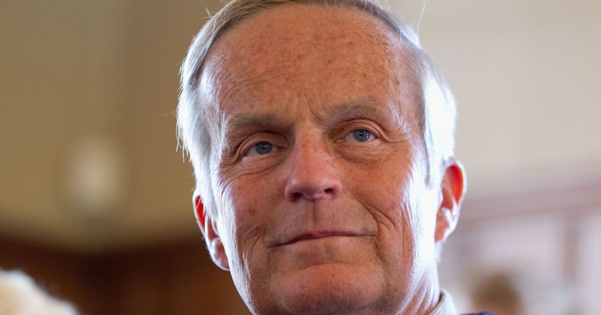 Former US Rep. Todd Akin addresses the media on Sept. 24, 2012 in Kirkwood, Missouri.</p>
