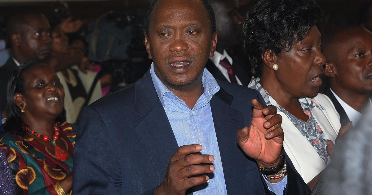 Uhuru Kenyatta attends a church service on March 31, 2013, at St. Austin Catholic church in Lavingtone, Nairobi.</p>