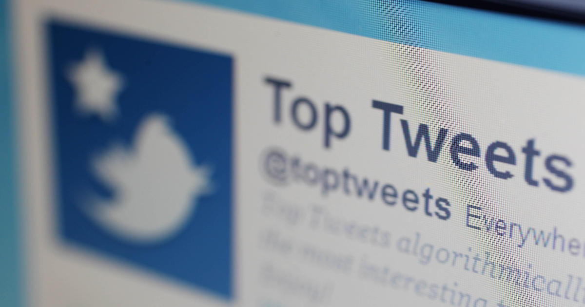 A close-up view of the homepage of the microblogging website Twitter on June 1, 2011 in London, England.</p>