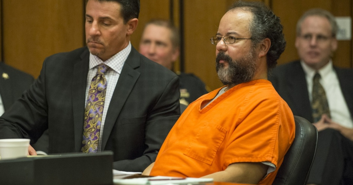 Ariel Castro pleads to Judge Michael Russo during his sentencing on August 1, 2013 in Cleveland, Ohio. Castro was found hanged in his jail cell and pronounced dead on Tuesday September 3, 2013.</p>