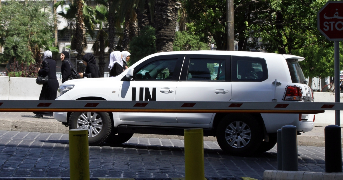 The UN chemical weapons investigation team arrives in Damascus. Syria has agreed to give UN inspectors full access to the site of a purported chemical weapons attack on Aug. 21, 2013, that activists say killed more than 300 people.</p>