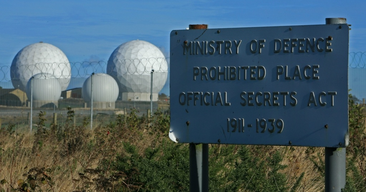 The radar domes of RAF Menwith Hill in north Yorkshire dominate the skyline on 30 October, 2007, Harrogate, England. The base is reported to be the biggest spy base in the world, and houses British and United States personnel.</p>