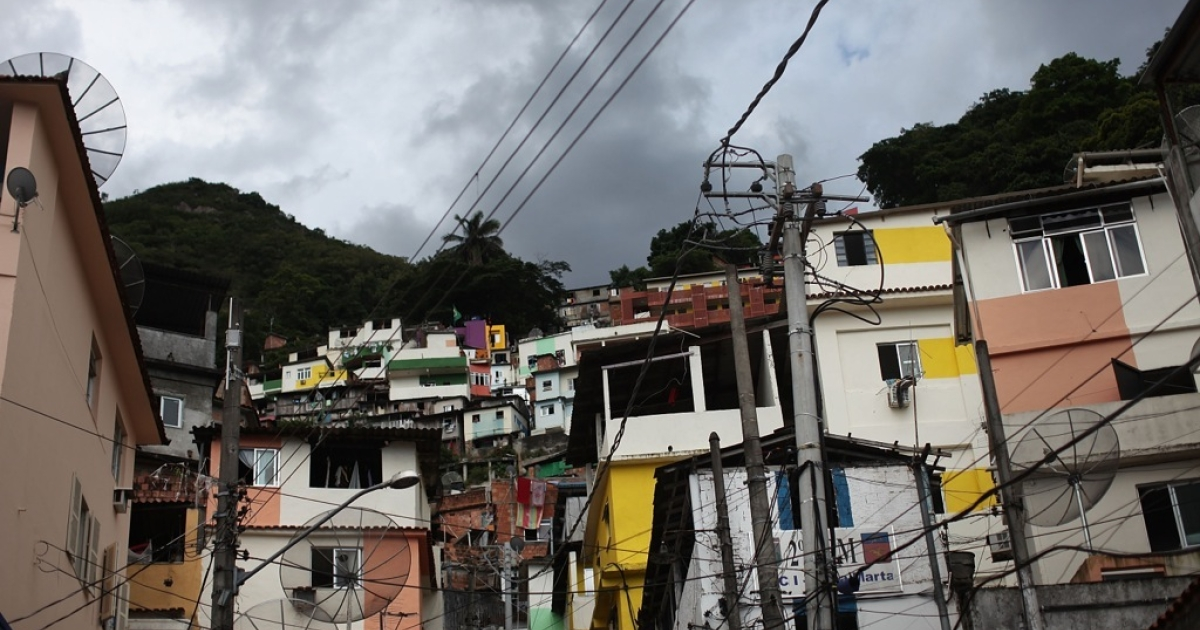 Santa Marta, one of Rio's oldest slums or favela.</p>