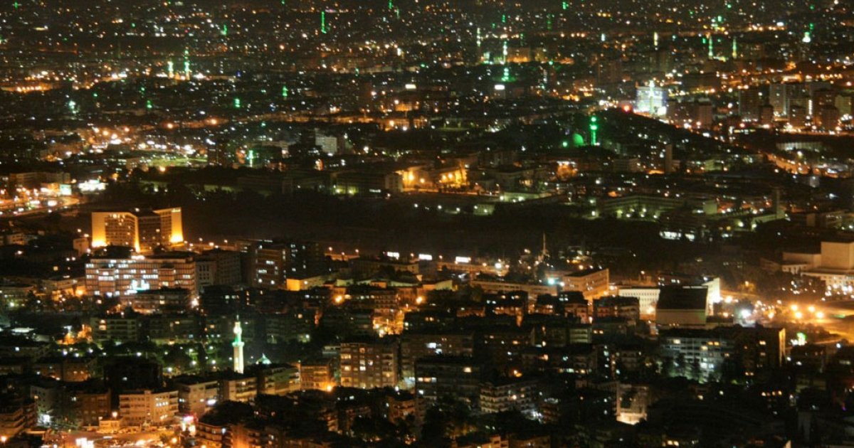 Damascus by night.</p>