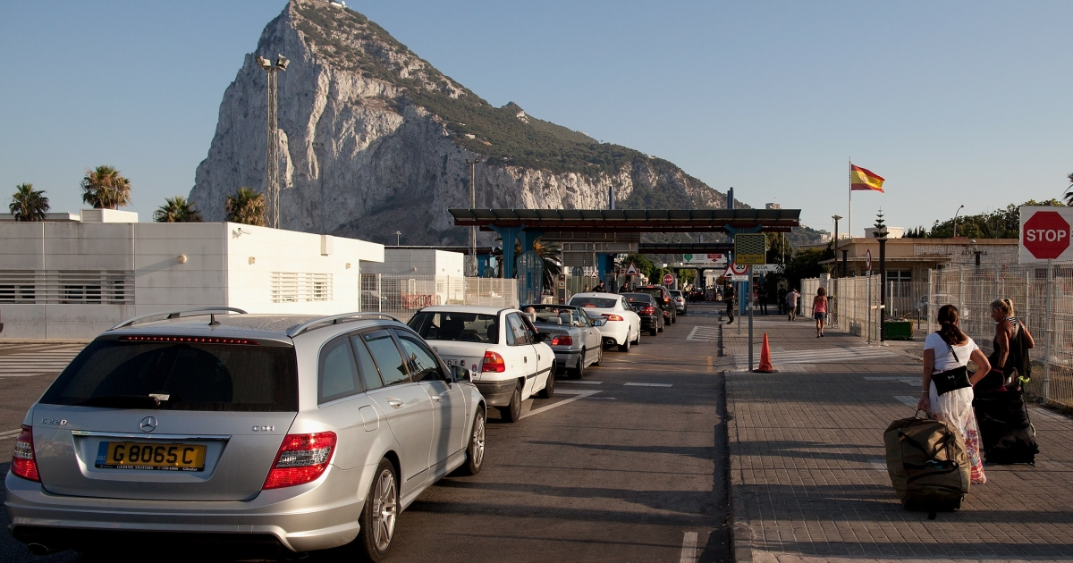 The border at La Linea de la Concepcion.</p>
