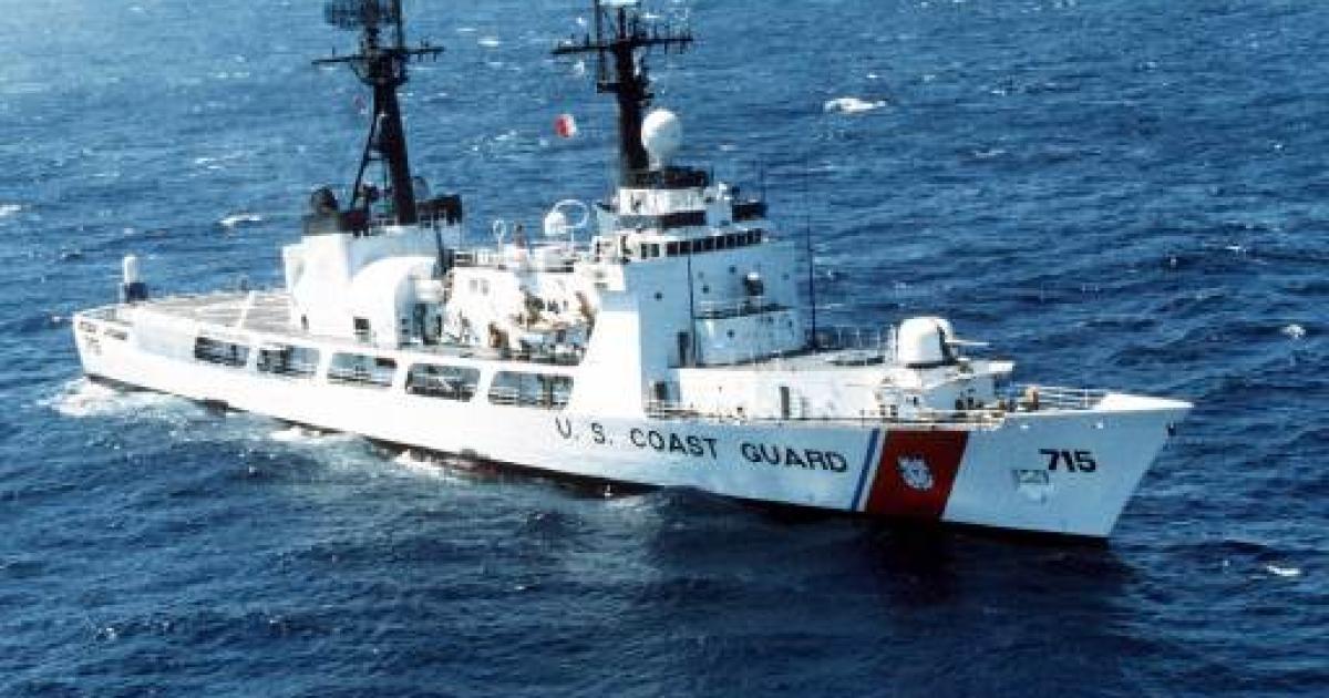 A USCGC Hamilton class cutter.</p>