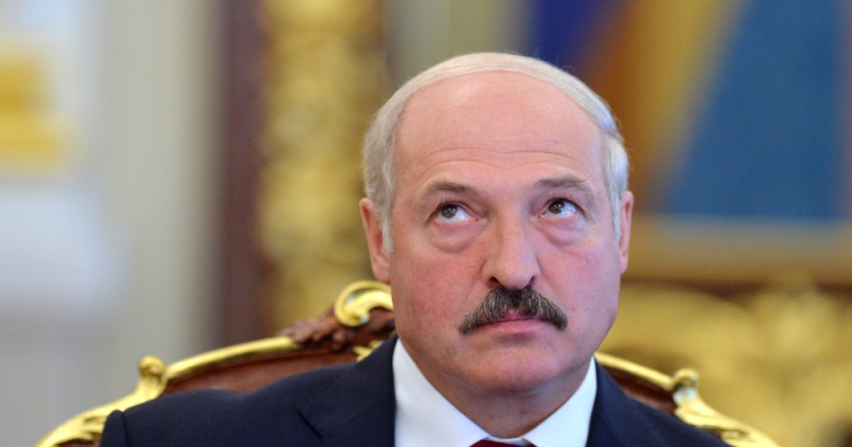 Belarussian President Alexander Lukashenko on June 18, 2013 during a meeting in Kyiv, Ukraine.</p>