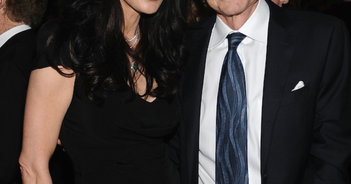 This photo of Michael Douglas and Catherine Zeta-Jones taken on April 22 at the Film Society of Lincoln Center's 40th Chaplin Award Gala in New York City was the last time the couple was photographed together.</p>