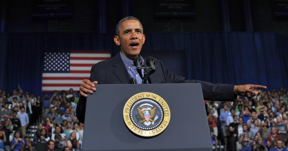 US President Barack Obama speaks on education at SUNY Buffalo in Buffalo, NY, on Aug. 22, 2013.</p>