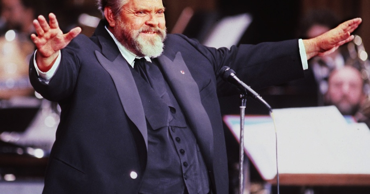 PARIS, FRANCE:  Famous American film actor and director Orson Welles, President of French film industry's