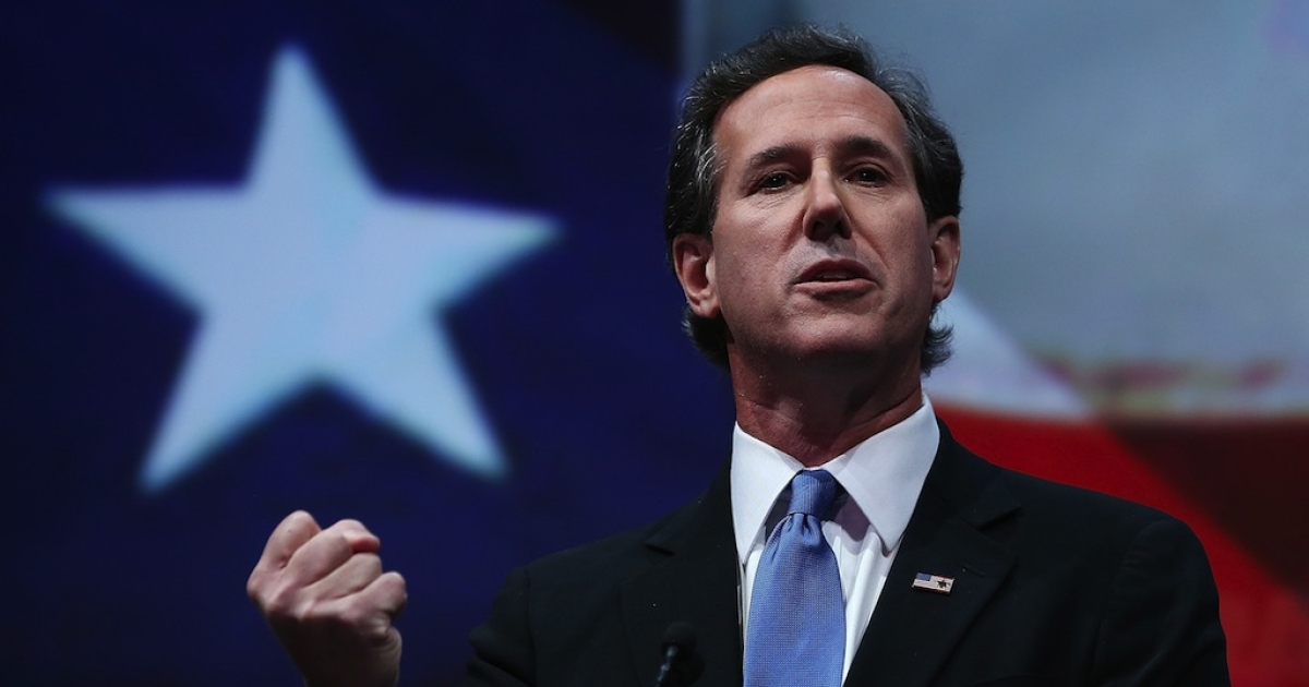 Iowa was a who's-who of potential presidential candidates this weekend, including Rick Santorum.</p>