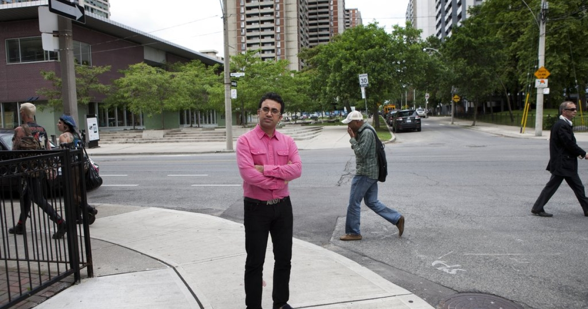Arsham Parsi, founder and executive director of the Iranian Railroad for Queer Refugees (IRQR) photographed in Toronto.</p>