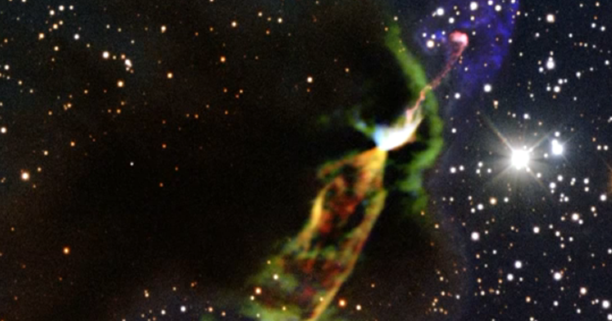 A telescope in Chile has captured the birth of a star in all its violent, glowing glory.</p>