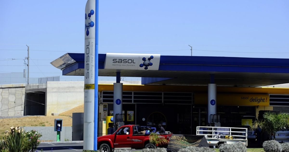 A Sasol gasoline station in Johannesburg, South Africa, on Sept. 22, 2010.</p>