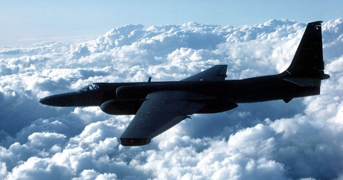 A US Air Force U-2 spy plane flies in this undated file photo.</p>