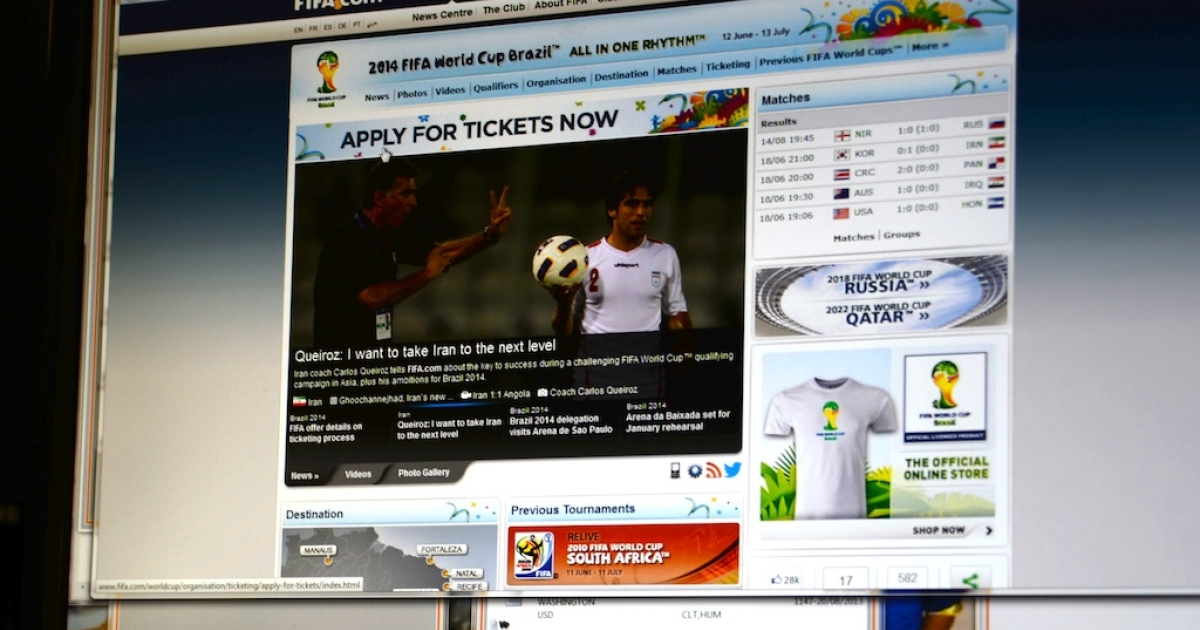 In case you didn't know, World Cup tickets are on sale.</p>