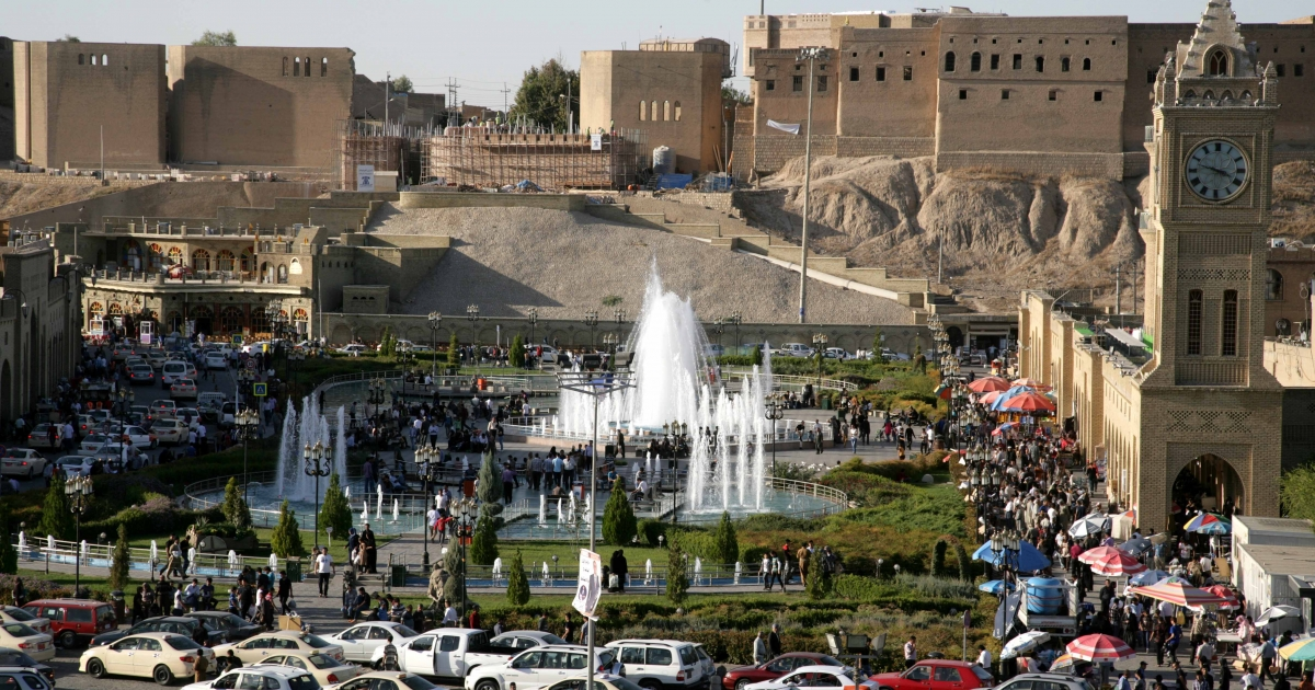 This Oct. 12, 2013 photo shows the citadel and City Park in the center Iraq's Erbil, the capital of semi-autonomous Iraqi Kurdistan, where things look a lot better than they do in federal Iraq.</p>