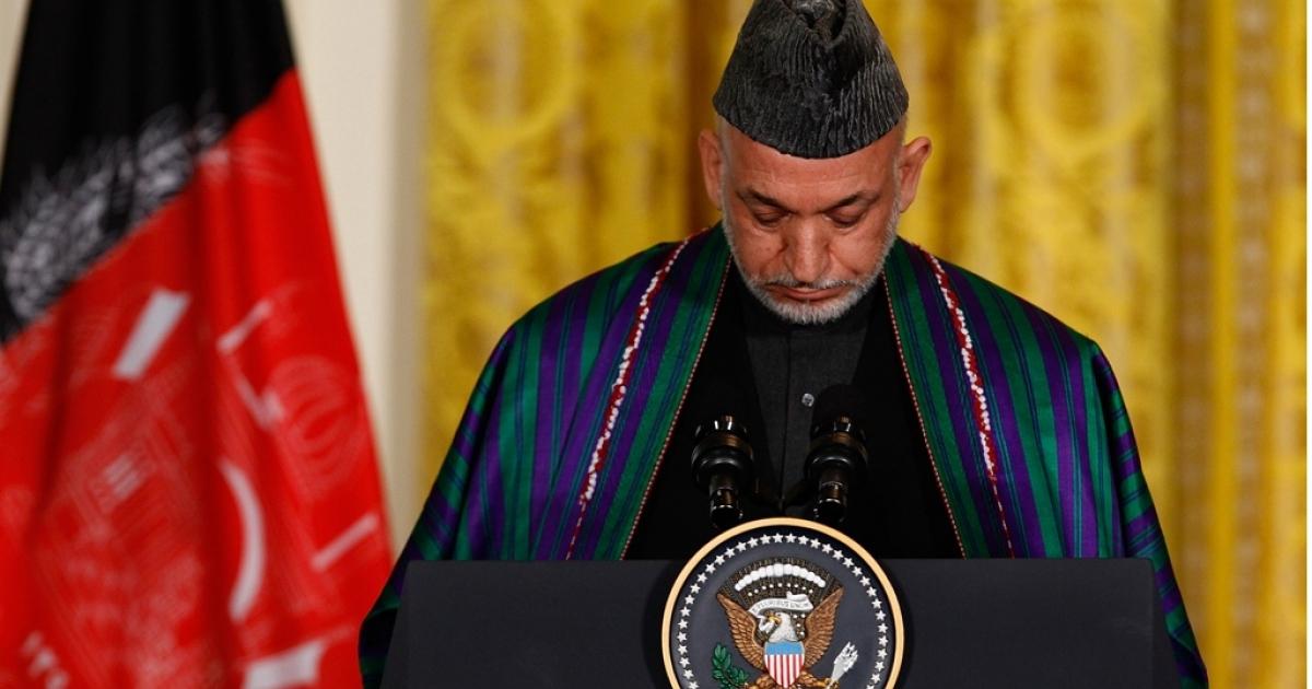 Afghan President Hamid Karzai.</p>