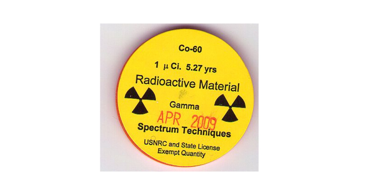 An isotope container of cobalt-60.</p>