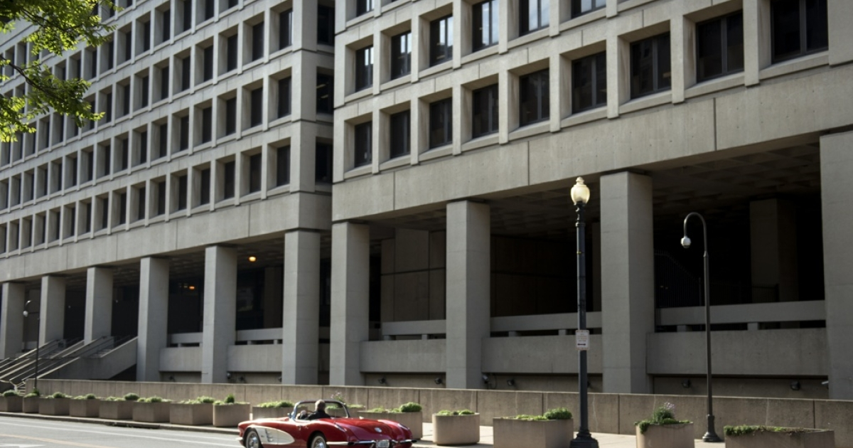 A view of the J. Edgar Hoover Building, the headquarters for the Federal Bureau of Investigation (FBI), on May 3, 2013 in Washington, DC.</p>