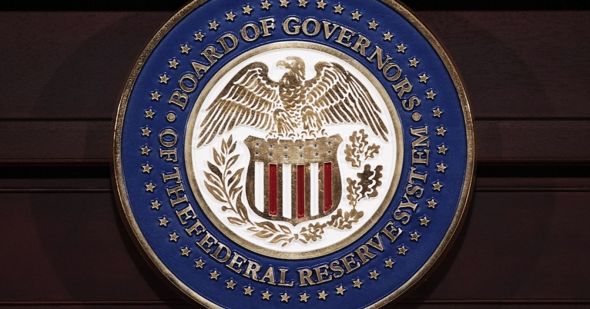 The seal of the Federal Reserve Board of Governors.</p>