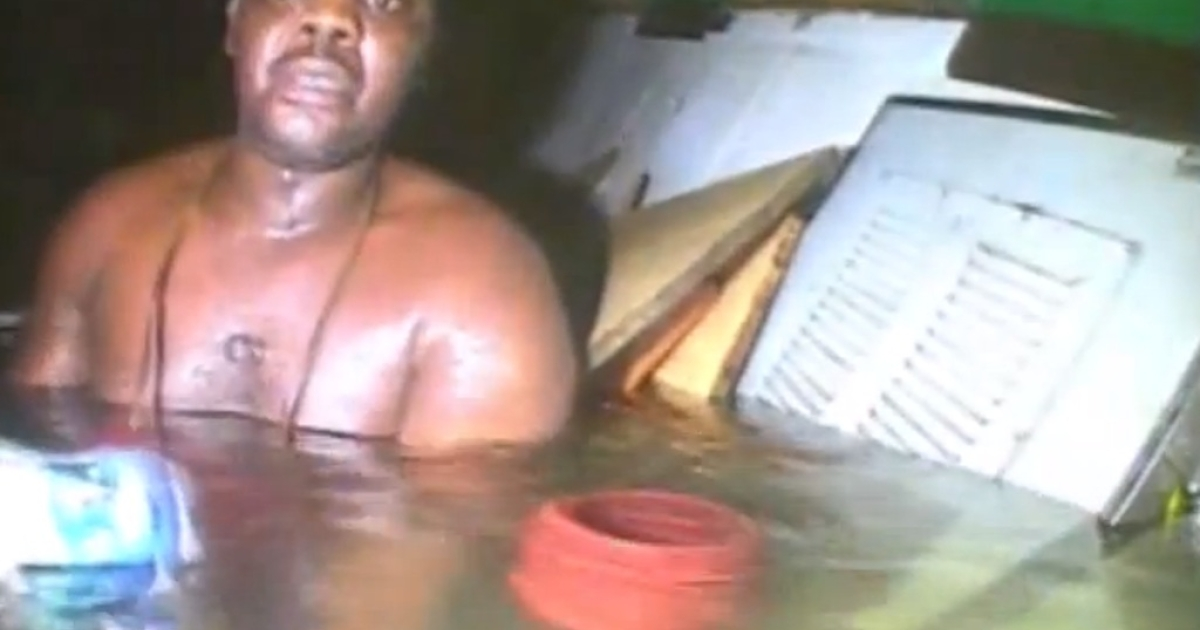 A screengrab from the video that has now emerged of Nigerian cook Harrison Odjegba Okene being rescued by divers after surviving more than 60 hours at the bottom of the Atlantic shows the first moments of the discovery that he was still alive.</p>