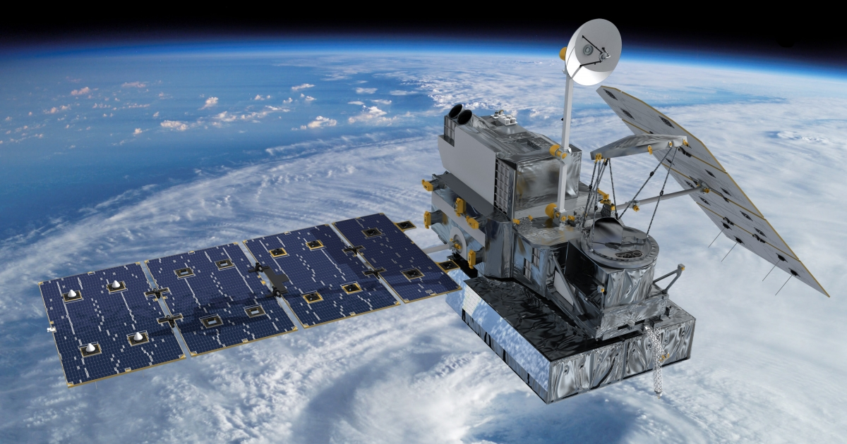 Artist concept of the Global Precipitation Measurement (GPM) Core Observatory satellite.</p>