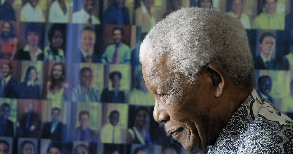 Nelson Mandela at home in Cape Town, Aug. 20, 2008.</p>